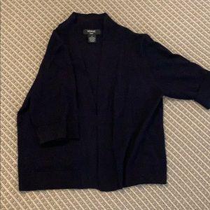 Verve short sleeve navy sweater